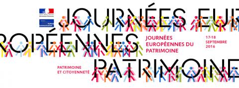 Logo des Journées européennes du patrimoine par le Ministère de la culture