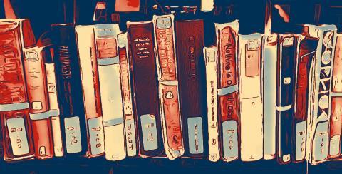 Etagère de livres par myrfa, licence CC : BY. Source [pixabay]