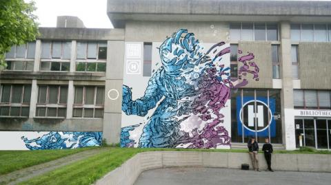 Fresque de Mya. BU Rennes 2. 2016