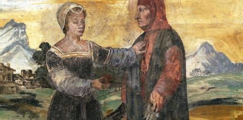 Portrait de Pétrarque (par Andrea del Castagno, Galerie des Offices, Florence. Source [Wikimedia Commons]