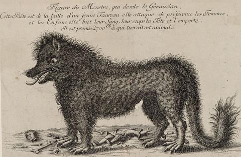 Figure du monstre qui désole le Gévaudan. Source [Wikimedia Commons]
