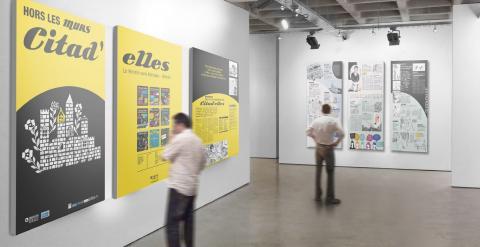Photo exposition Hors les murs.  Avec l'autorisation de l'association Citad'elles. Etablissements Bollec