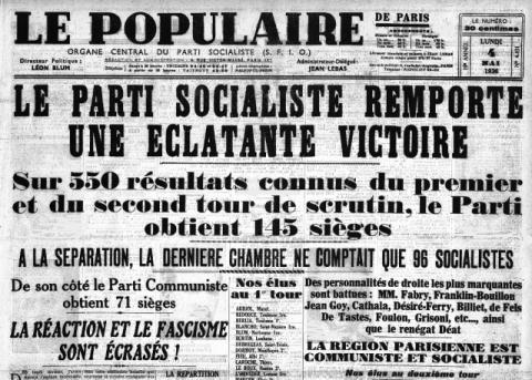Le-Populaire-4-mai-1936 par Gallica BNF. Source [Wikimedia commons]