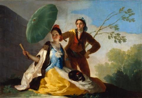 The parasol, Francisco de Goya, Domaine public. Source [Wikimedia commons]