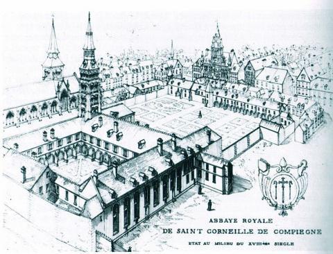 Abbaye Royale Saint-Corneille de Compiègne. Source [Wikimedia Commons]