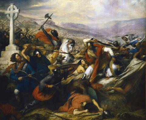 Steuben - Bataille de Poitiers. Source [Wikimedia Commons]