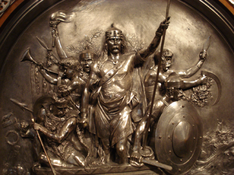 Victory of King Merovech par Fordmadoxfraud, licence CC : BY-SA. Source [Wikimedia Commons]