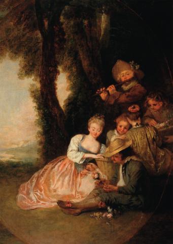 Watteau. la déclaration attendue.Musée d'Angers