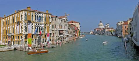 Venedig_panorama_Canale_Grande by : Hans Peter Schaefer, licence CC:BY-SA.Source [Wikimedia Commons]