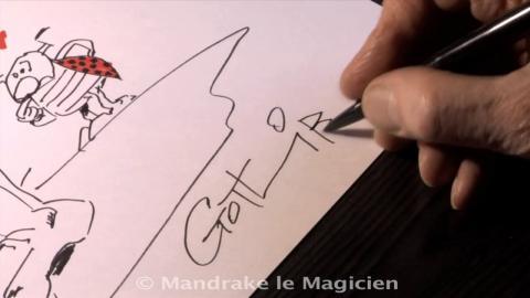 Gotlib - Autoportrait... en pied par Jean-Luc Muller - Mandrake. Source [Vimeo]