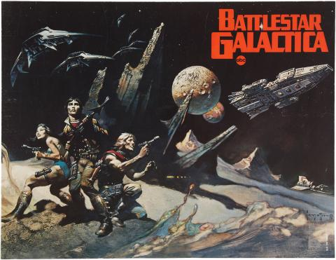 Frank Frazetta's Battlestar Galactica series premiere poster par Tom Simpson, licence CC : BY-NC-ND. Source [Flickr]