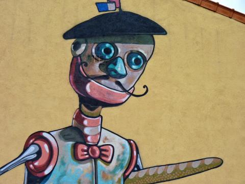 Pixel Pancho graffiti par Francis Verger, licence CC : BY-NC 2.0. Source [Vitry city graffiti]