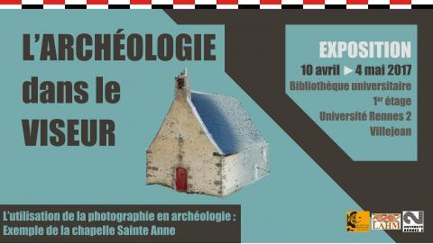 Affiche de l'exposition l'Archéologie dans le viseur. Univ. Rennes 2