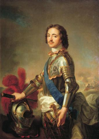 Portrait of Peter I of Russia (1672-1725) by Jean-Marc Nattier. Source [Wikimedia Commons]