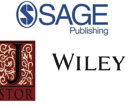 Wiley, Sage, JSTOR