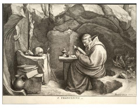 Saint François, gravure de Wenceslas Hollar (XVIIe siècle), domaine public. Source [Wikipédia]