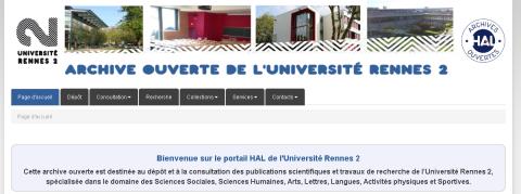 L'archive ouverte Hal Rennes 2