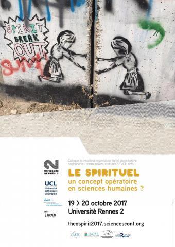Affiche du colloque Le spirituel - Université Rennes 2