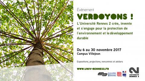 Affiche dynamique Verdoyons ! - Rennes 2
