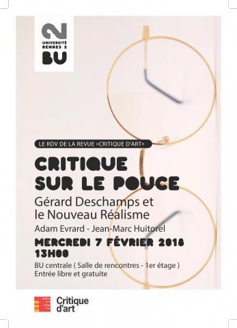 Affiche Critique sur le pouce - BU Rennes 2