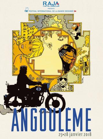 Affiche du Festival d'Angoulême 2018, avec l'aimable autorisation du festival