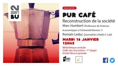 Affiche PUR Café - 16 janvier 2018 - BU Rennes 2