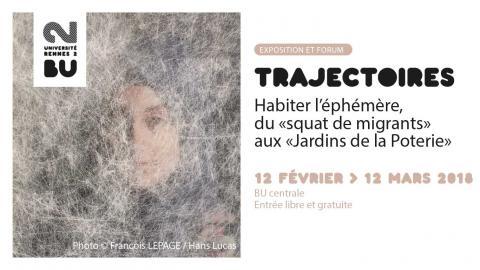 Visuel Trajectoires 2018 - BU Rennes 2