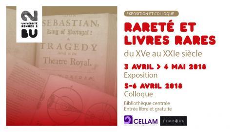 Affiche expo Rareté - BU Rennes 2