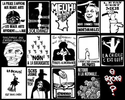 Affiches de Mai 68 par Lilicomanche, licence CC : BY-NC 2.0. Source [Flickr]