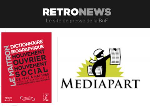 Mediapart - Maitron - RetroNews