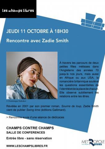Affiche de la rencontre aux Champs Libres