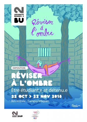 Affiche de l'exposition Réviser à l'ombre - SCD Rennes 2