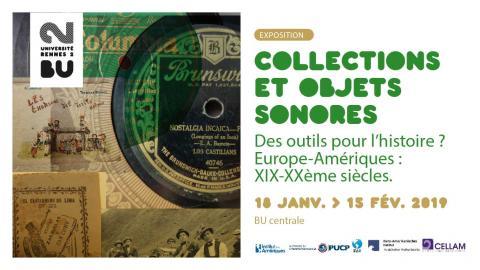 Affiche de l'exposition Collections et objets sonores - SCD Rennes 2