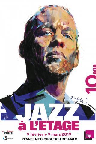 Affiche du festival Jazz à l'étage 2019 © Pablo. Martin Le Tiec, avec l'aimable autorisation de l'association Jazz 35