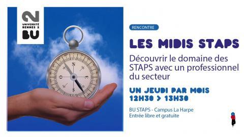 Affiche des rencontres les midis STAPS - SCD Rennes 2