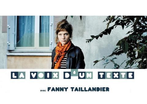 Visuel La Voix d'un texte - Fanny Taillandier