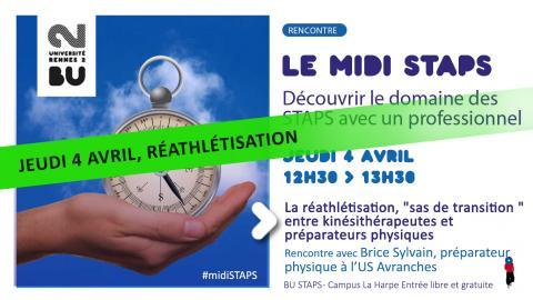 Visuel de la rencontre midi STAPS du 04/04/2019 - SCD Rennes 2