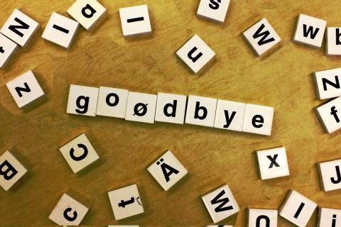 goodbye par  woodleywonderworks, licence CC : BY 2.0. Source [Flickr]