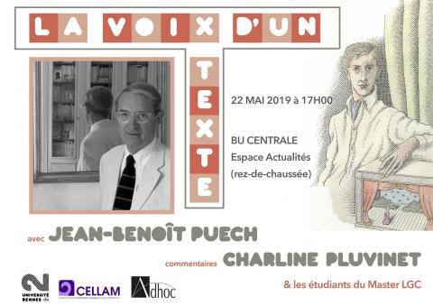La Voix d'un texte - J.B. Puech