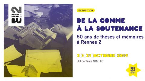 Affiche Expo 50 ans de Rennes 2 - BU Rennes 2