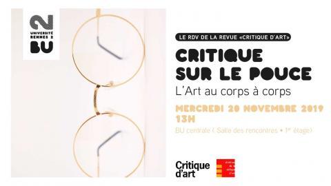 Affiche de la Critique sur le pouce du 20/11/2019 - BU Rennes 2