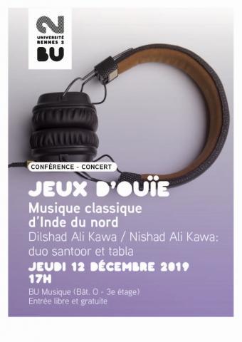 Affiche concert du 12/12/19 - BU Musique