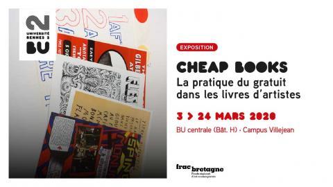 Exposition Cheap Books - Université Rennes 2 / Frac Bretagne