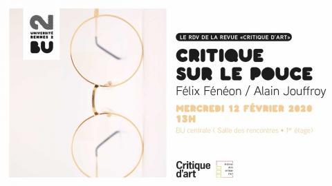 Affiche Critique sur le pouce du 12/02/2020 - BU Rennes 2