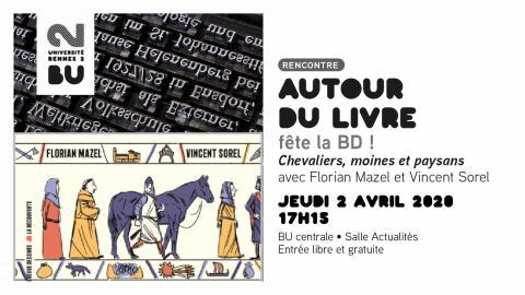 Affiche Autour du livre - Chevaliers, moines et paysans, 02/04/2020