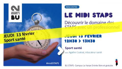 Visuel Midi STAPS du 13/02/2020 - SCD Rennes 2