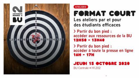 Visuel de l'atelier format court du 15 octobre 2020