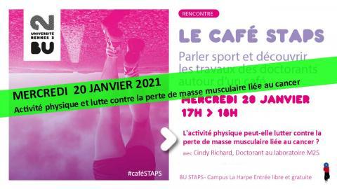 Visuel Café STAPS 20/01/2021 - SCD Rennes 2