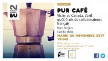 Affiche PUR Café - 28 novembre 2017 - BU Rennes 2
