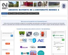 Page d'accueil du portail Hal Rennes 2, Image C. Pierre (SCD Rennes 2)